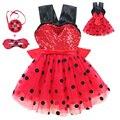 Детские платья; распродажа; вечерние платья в красный горошек для дня рождения с изображением божьей коровки; маскарадный костюм в виде игрушек; детская одежда для девочек; маскарадное платье на Хэллоуин с изображением божьей коровки - фото