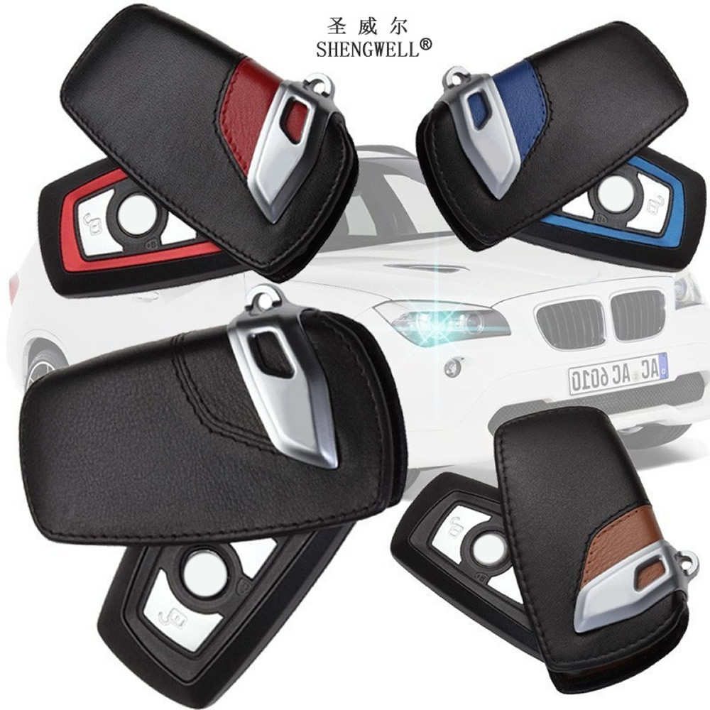 Leather car key case holder For BMWS F05 F10 F20 F30 220i 428i 116 118i 125I M125 320I 316I 328I 520I 530I X4 X1 730LI 740LI