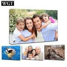 WGT индивидуальные принты плакат на холсте картина стены искусства на заказ ваш портрет Свадьба семья дети фотографии домашний декор