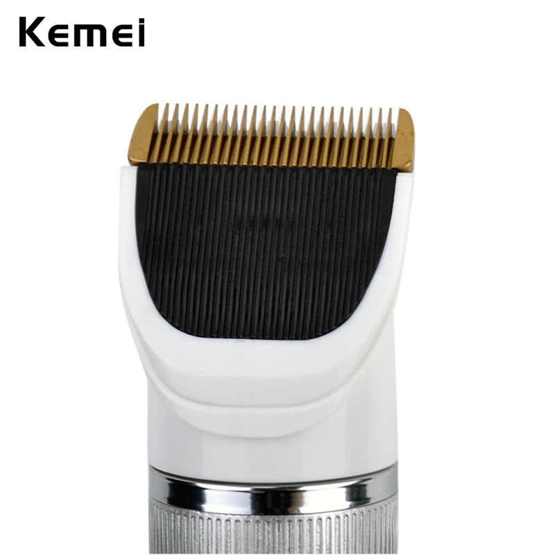 Kemei Professional Hair Clipper Titanium Blade Cutter Hair Trimmer Shaver Razor Beard Shaving Machine Haircut Clipper Trimmer