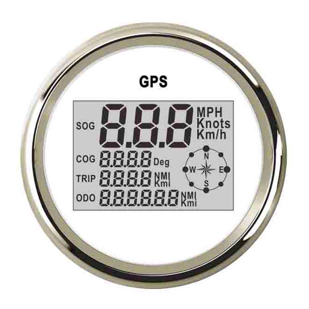 85mm GPS Speedometer Odometer 999 knots Km\h MPH Digital Speed Gauge With Backlight fit Car Truck Boat 9~32 V GPS Meter 85mm car gps speedometer truck boat digital lcd speed gauge knots compass with gps antenna