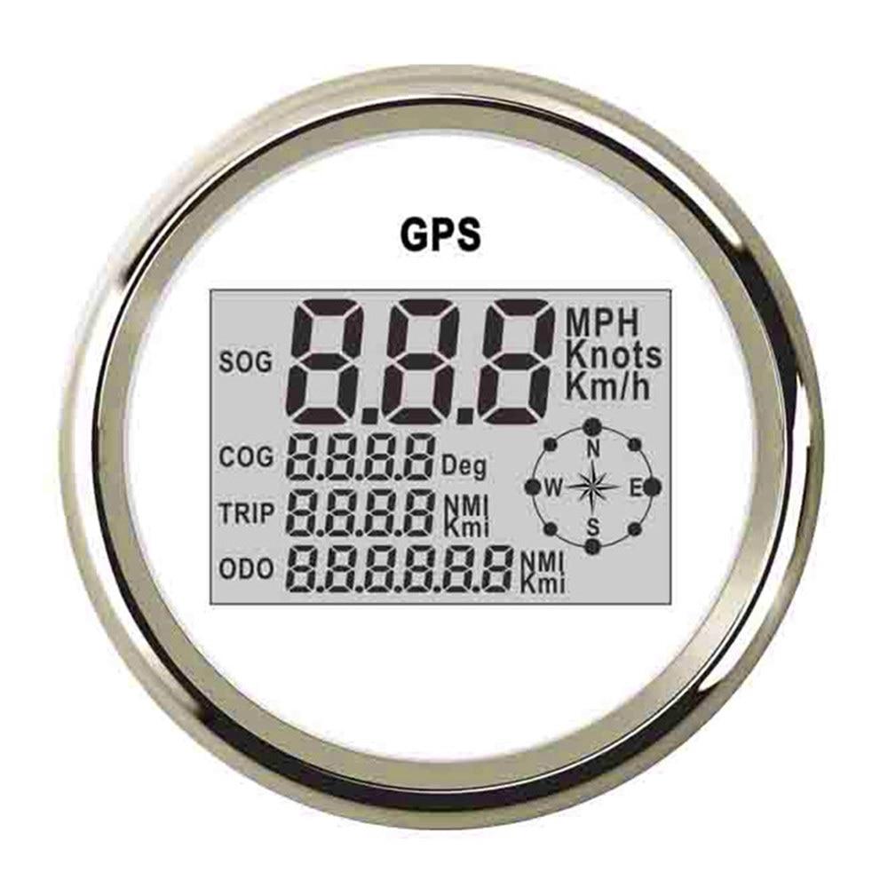 85mm GPS Speedometer Odometer 999 knots Km\h MPH Digital Speed Gauge With Backlight fit Car Truck Boat 9~32 V GPS Meter