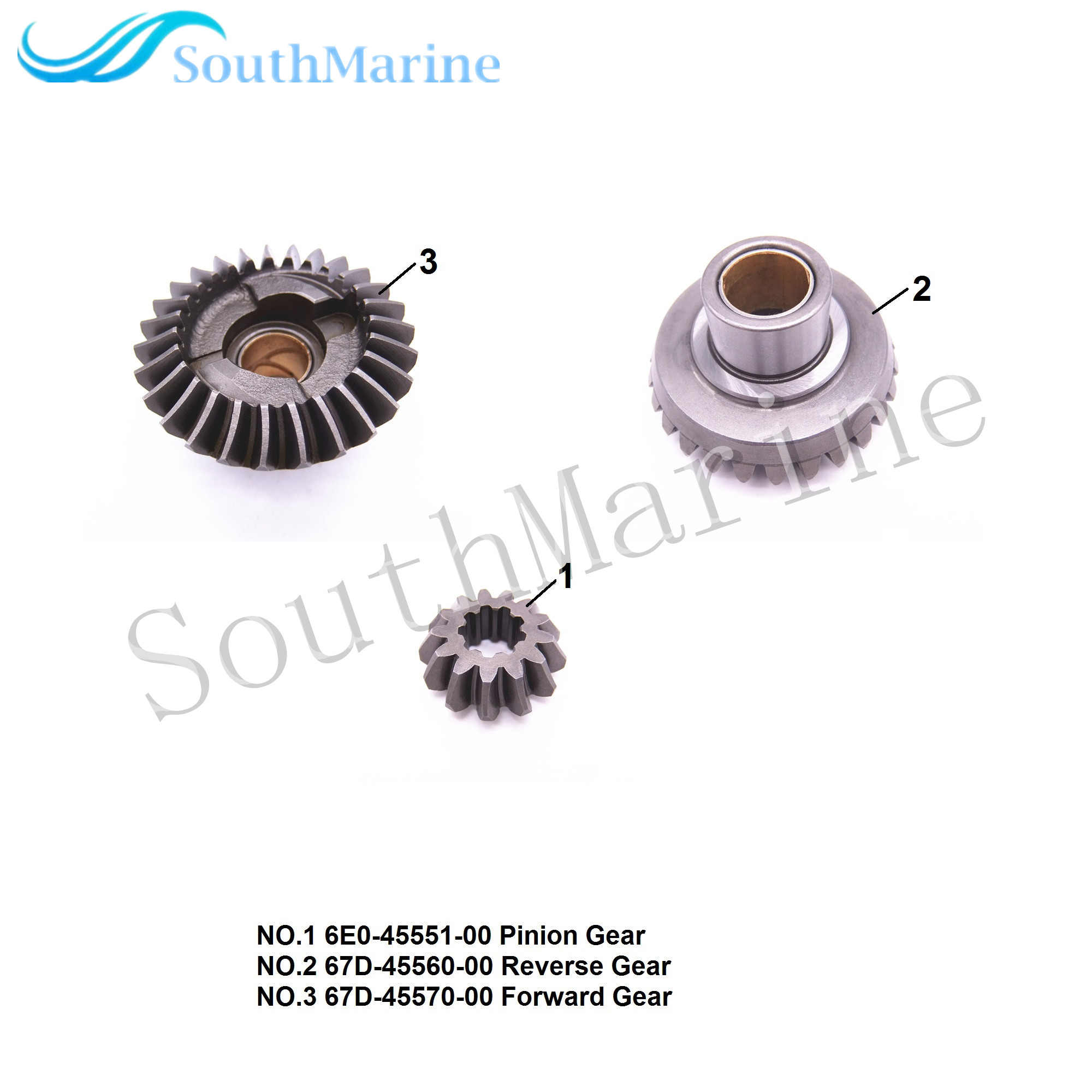 Outboard Engine 6E0-45551-00 Pinion / 67D-45560-00 Reverse / 67D-45570-00 Forward Gear for Yamaha F4 Boat MotorOutboard Engine 6E0-45551-00 Pinion / 67D-45560-00 Reverse / 67D-45570-00 Forward Gear for Yamaha F4 Boat Motor