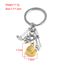 SG New Creative Letter I Love You Mom Dad Pendant Keychain Repair & Kitchen Tools Keyring Key Chains Mother Father 's Day Gift
