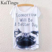 c605259a KaiTingu 2016 Brand New Fashion Summer Harajuku Short Sleeve Women T Shirt  Tops Letter Ugly Dog