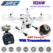 Livraison Gratuite! JJRC H26W 2.4G 6 Axe 2MP HD Caméra Wifi Moniteur FPV Sans Tête RC Quadcopter