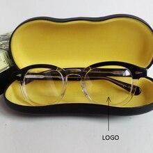 Солнцезащитные очки для мужчин и женщин, ацетатная оправа для очков, фирменный дизайн, компьютерные прозрачные оптические очки, оправа, высокое качество, коробка 313