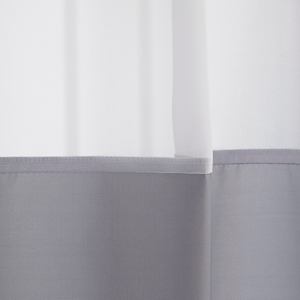 Image 2 - Uالجمعة رمادي و قماش أبيض دش ستارة للحمام مع نافذة شفافة الشاش الأبيض الحديثة انظر من خلال ستارة حمام