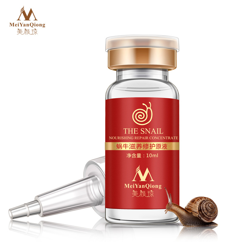 цена на High Quality Snail 100% Pure Plant Extract Hyaluronic Acid Liquid Whitening Blemish Serum Ampoules Anti-acne Rejuvenation Serum