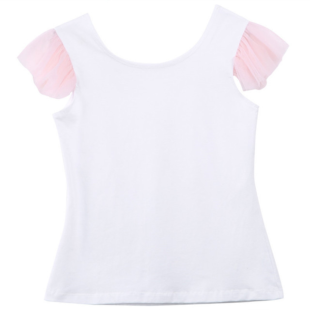 2019 Lovely Short Sleeve T-shirt TuTu Skirt 2pcs Mother Daughter Dresses Cotton Summer Clothes Family Kids Parent Child Outfits 4