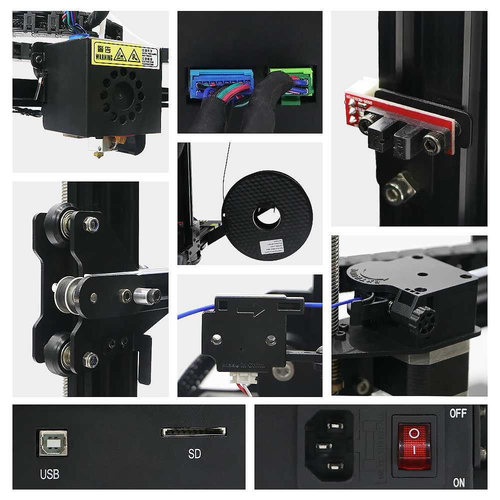 Image 5 - ANYCUBIC Chiron 3D Printer Plus Size TFT Auto leveling Extruder Dual Z Axisolor Impressora 3D Kit DIY Gadget 3d Drucker-in 3D Printers from Computer & Office