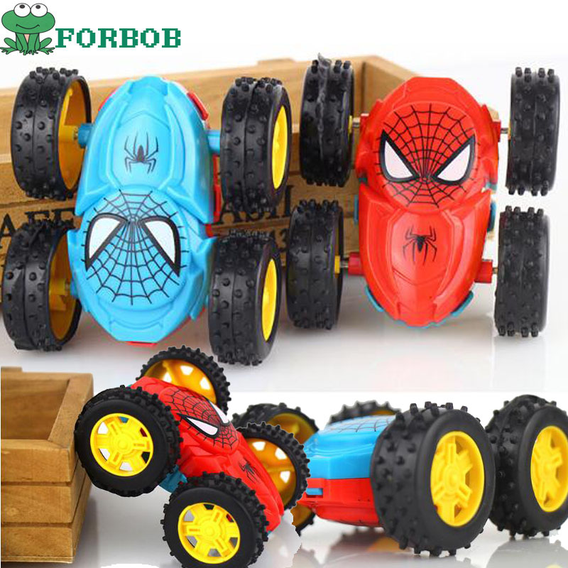 2pcs Lot Spiderman Inertial Double Sided Dump Truck Car Toys For