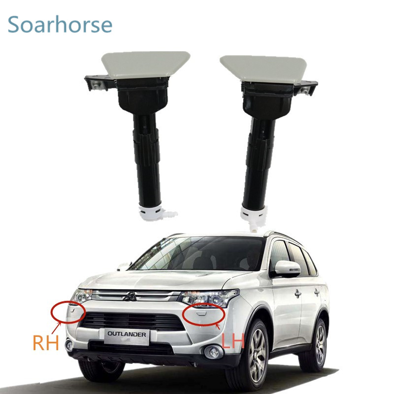 For Mitsubishi Outlander Iii 2013 2014 2015 Front Bumper Headlamp Headlight Washer Sprayer Nozzle With Cover Cap