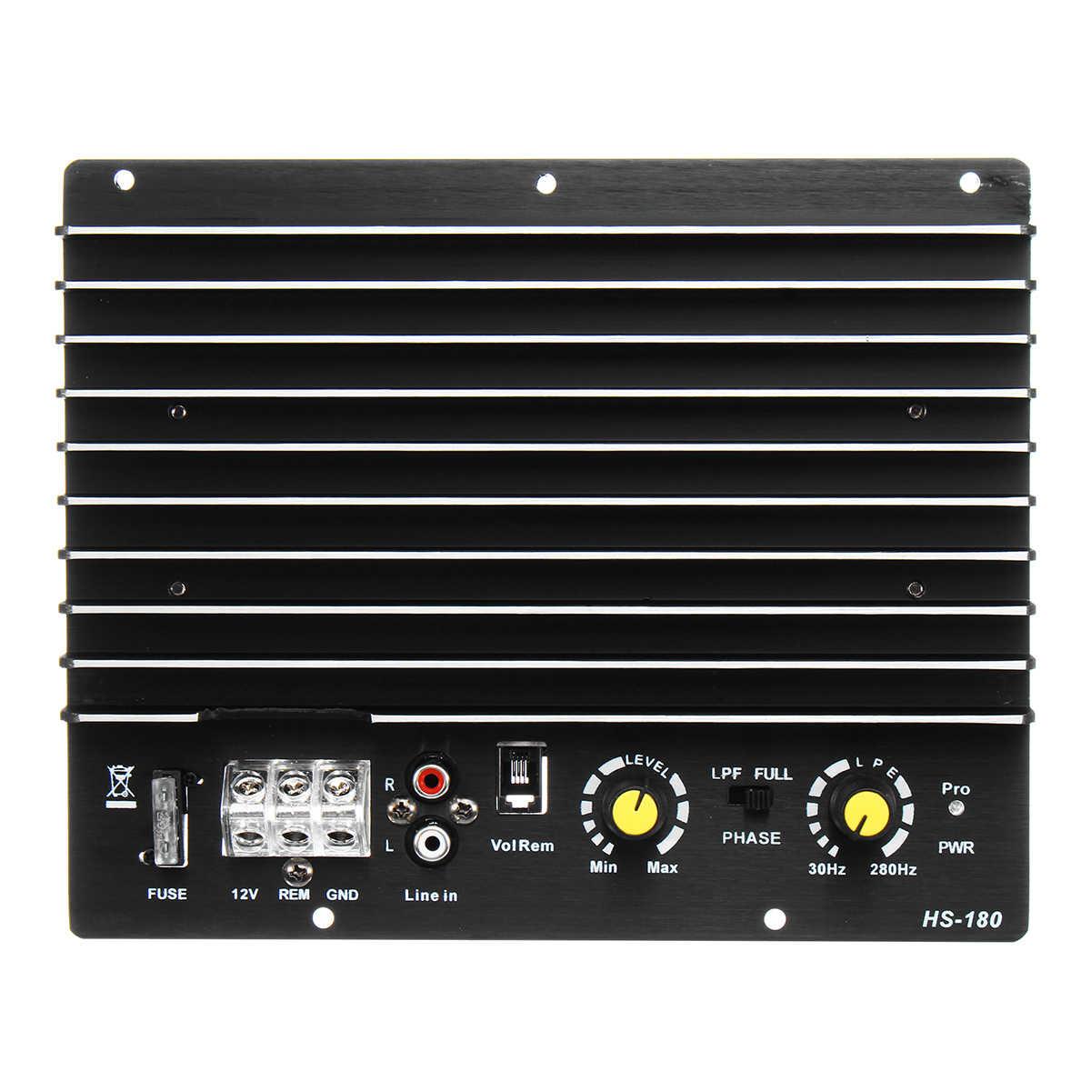 100A В 12 в 1200 Вт усилитель доска Моно автомобильный аудио усилитель мощности для 8/10 дюймов динамик