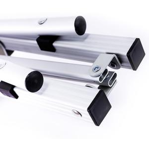 Image 4 - גובה מתכוונן שולחן מתקפל כסף שולחן נייד קמפינג מנגל טיולים נסיעה חיצוני פיקניק מתקפל אל Ultralight שולחנות