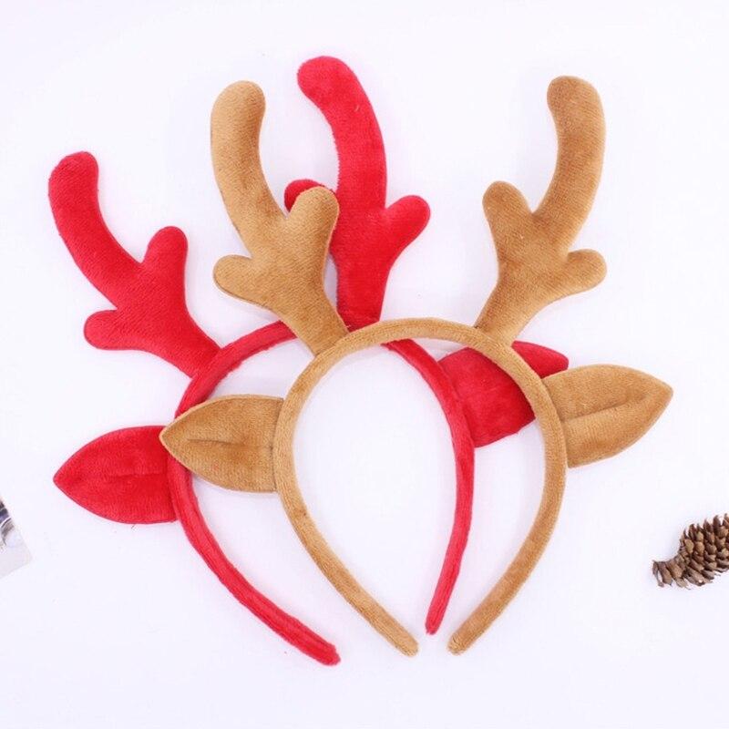 2018 Hot New 1 Pc Christmas Headband Cute Reindeer Horns Women Girls Female Elk Antlers Hair Hoop Cosplay Women's Hair Accessories