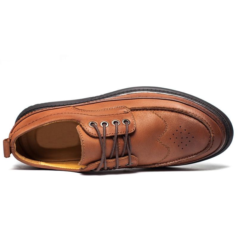 Livre Retro Respirável Sapatos Ao Formal Homens Ar Preto Dos Dropshipping De marrom Natural Up Lace Sapatas Macio Couro Oxford Handmade zqXzZ