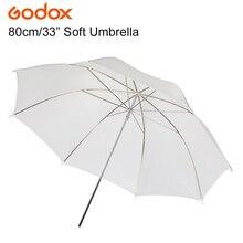 """GODOX 83 см 3"""" фотография Pro Studio мягкий прозрачный белый зонтик-рассеиватель для студийной вспышки лампы освещения"""
