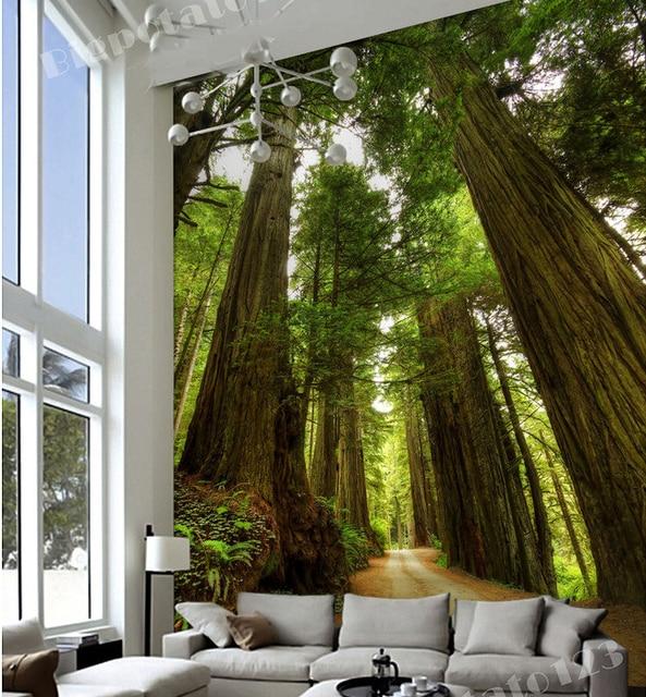 Custom 5d Papel Murals Big Tree Forest 3d Photo Wallpaper For Living Room TV Sofa