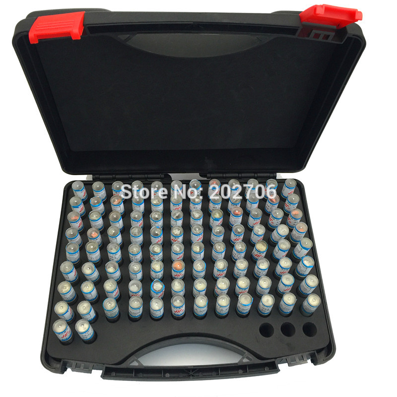 0.30-10.00mm Steel Pin Gauge 50mm Pin Measuring Tool Step 0.1mm, 98pcs/lot