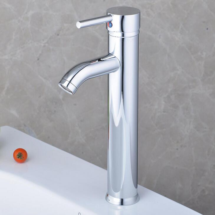 Fashion Copper Sink Basin Faucet Chrome Plated, Bathroom