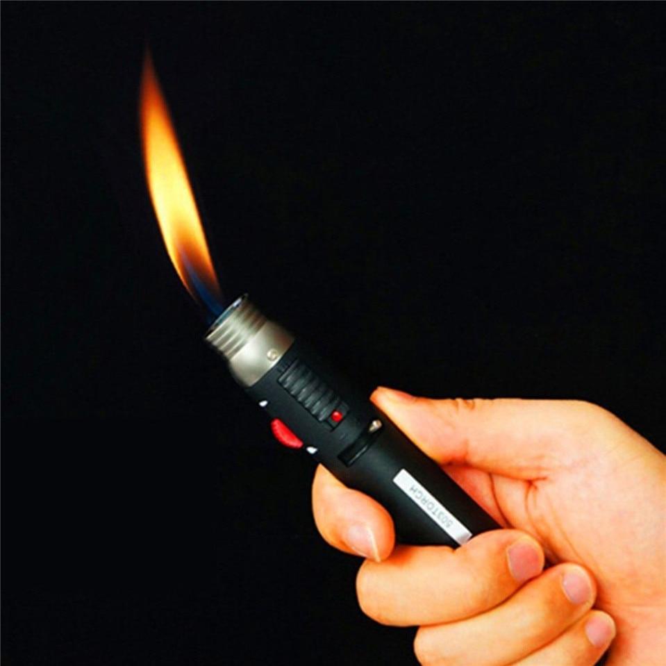 Temperamentvoll 2018 Heißer Verkauf Outdoor Leichter 1300 Grad Torch Jet Flame Bleistift Nachfüllbar Butangas Stoffschweißen Löten Pen Kostenloser Versand Schweißen & Löten Supplies