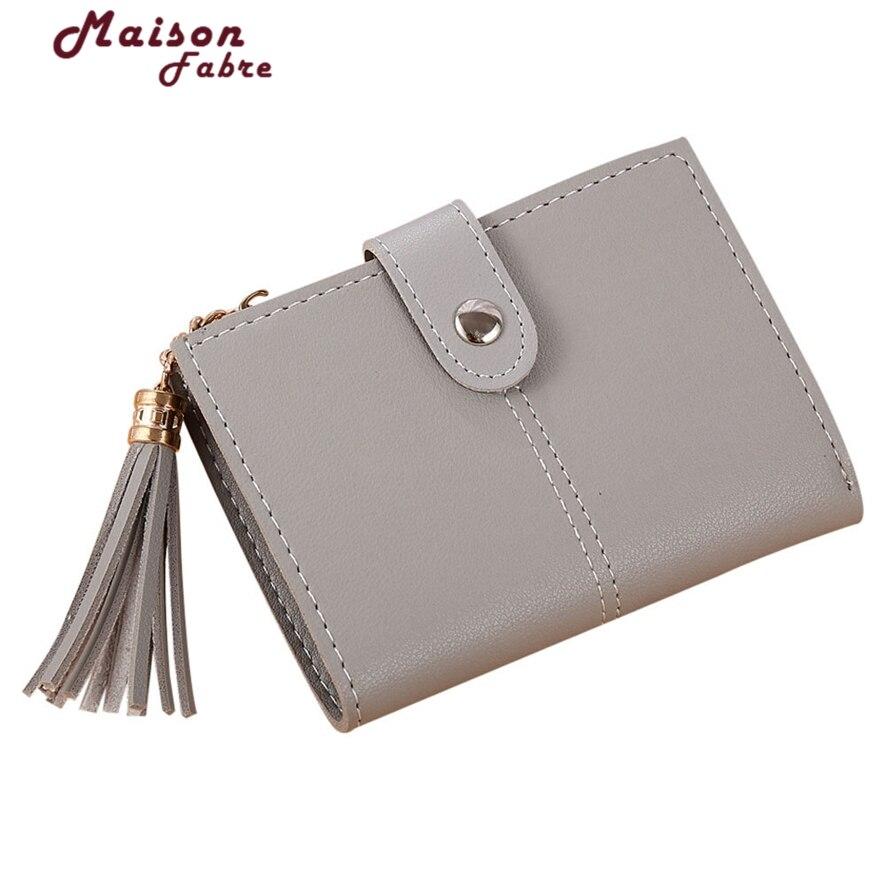 Леди защелки короткие бумажник сцепления Винтаж кисточкой Для женщин кошелек моды небольшой женский кошелек короткие Монета карты 914 #23 ...