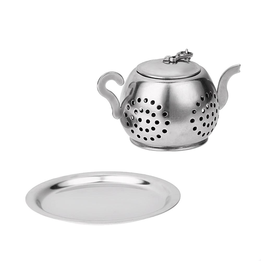 Kitchen Tea Accessories: Stainless Steel Teapot Shape Tea Infuser