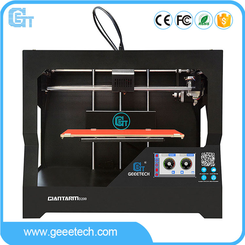 Latest Geeetech GiantArm D200 3D Printer Cloud Tech Wi-Fi Connection Filament Break Detection Power-off Resume Function
