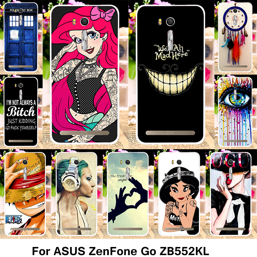 TAOYUNXI Phone Covers Cases For ASUS ZenFone Go ZB552KL 5.5 inch Case Hard Plastic Cover Princess Jasmine Tattooed Girls Housing
