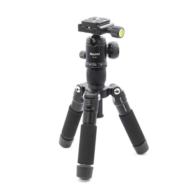 XILETU FM5-MINI Mini Çok Fonksiyonlu Masa Tripod Alüminyum Alaşım Taşınabilir Braketi Ballhead Cep Telefonu için Gopro DSLR Kamera