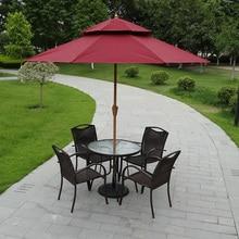 Double top in the column umbrella outdoor furniture, umbrellas sun patio hand 2.7 meters round