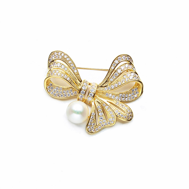 Korean version of the fashion pearl rhinestones butterfly knot chest needle deduction deduction with a simple scarf deductionKorean version of the fashion pearl rhinestones butterfly knot chest needle deduction deduction with a simple scarf deduction