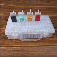 Contenedor de herramientas de pintura de diamantes de alta calidad, accesorio de almacenamiento de piedras bordadas, caja de conveniencia de mosaico con pegatina gratis