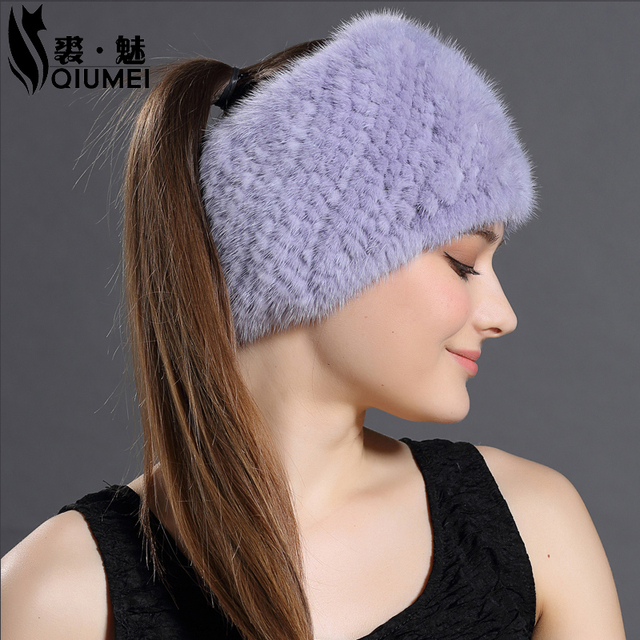 2016 Autumn Winter New 3 Use Knitted Hats&Winter Scarves For Women Warm Mink Fur Solid Beanies Hat High Quality Female Hat