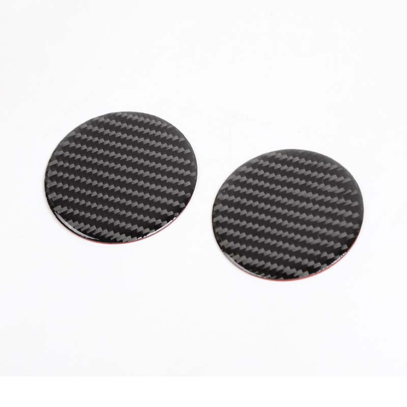 Fit For Ford <font><b>Mustang</b></font> <font><b>2015</b></font> Up Car <font><b>Accessories</b></font> Water Cup Mats Decoration Sticker Carbon Fiber Interior Car Styling 2Pcs New image