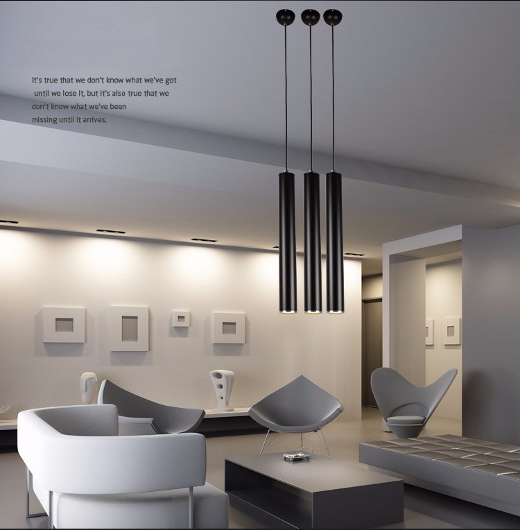 Aluminum long pillar pendant light (1)