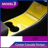 For Tesla Model 3 Car Gear Shift Box Panel Cover Sticker Trim Strips Garnish Protection Car styling