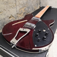 360 electric guitar,Wine red paint,standard size,Silver accessories.Real photos!