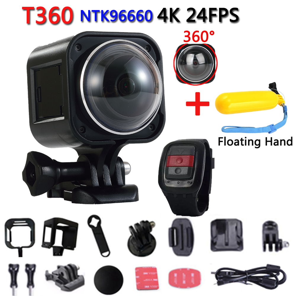 Original T360 Mini 360 Video Panorama Camera 4K WiFi Sport Action Camera 16MP 3D DV DVR Waterproof Camcorder Deportiva VR Cam