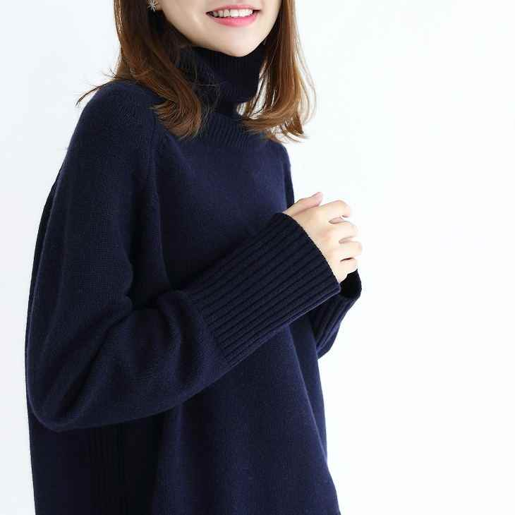 2019 autumn Winter Turtleneck Sweaters  Warm Women Jumper Female Loose Gray Pullover Pull Knitted