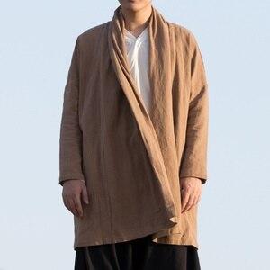 Image 5 - الملابس الصينية التقليدية للرجال الذكور سترة الشتاء الشرقية للرجال وشو الكونغ فو الزي الملابس السترات الرجال 2019 TA1139