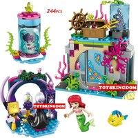 Caliente princesa de cuento de hadas historia sirena encanto mágico building block bruja pescado figuras ladrillos juguetes para niñas regalos