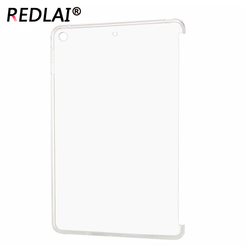 Redlai For iPad Mini 1/2/3 A1432 A1489 A1599 ,TPU Crystal Clear Silicone cover skin for Ipad Mini 1 2 3 trimming Desing