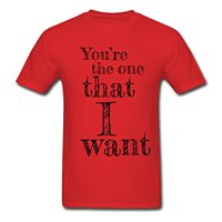 Matching Couple Love Song The One That I Want Men S T Shirt Men Cotton T