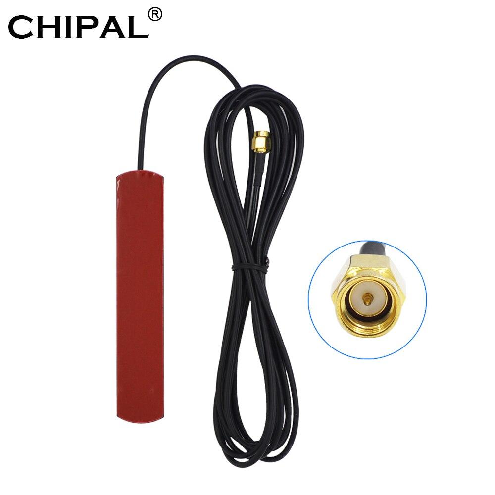 Antenne originale de correction de wifi de 3G 4G LTE de CHIPAL avec le connecteur mâle de SMA prise SMA-M antenne RG174 de Gsm avec le câble de longueur de 3M pour le GSM