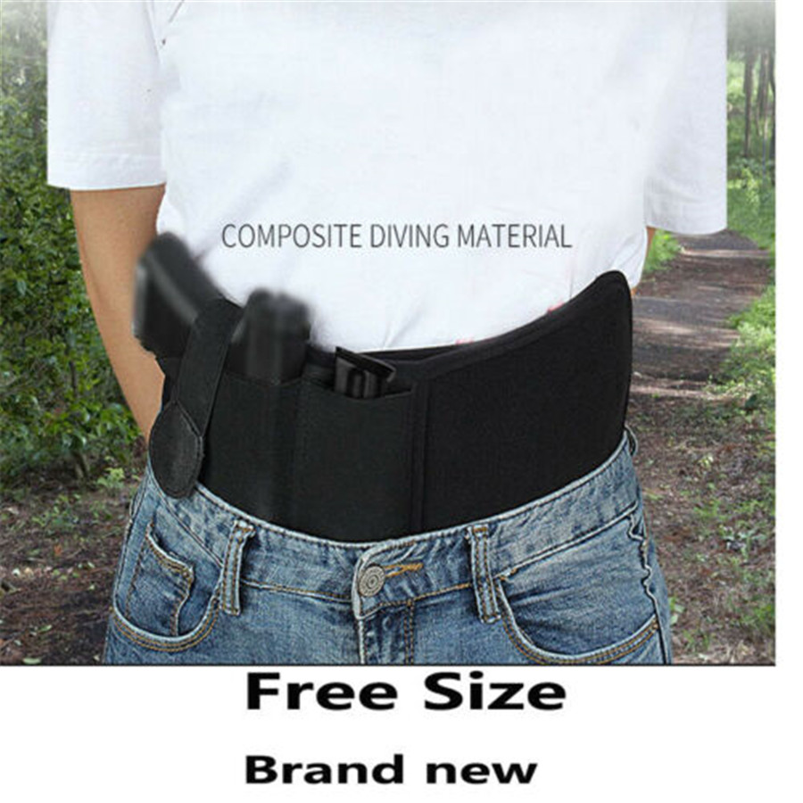 2019 Brand New Style Tactical Belly Waist Band Holster Waist Band for Handgun Pistol Gun Carry Black image