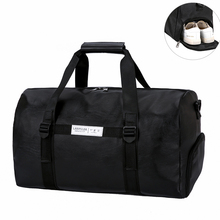 2019 New Quality Travel Bag PU Leather Hand Luggage For Men And Women Fashion Duffle Bag With Shoe Compartment