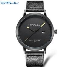 2016 CRRJU Hombres Relojes de Marca de Lujo Casual Hombres Relojes Analógicos Deportes Militares Reloj de Cuarzo Masculino Del Relogio masculino