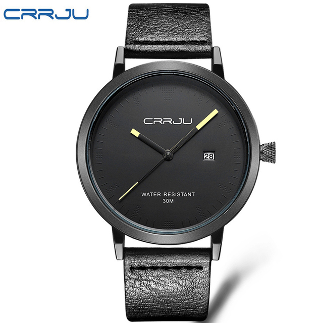 2016 Homens Relógios de Luxo Da Marca CRRJU Homens Casuais Relógios Analógicos Militar Esportes Relógio de Quartzo relógios de Pulso Masculino Relogio masculino